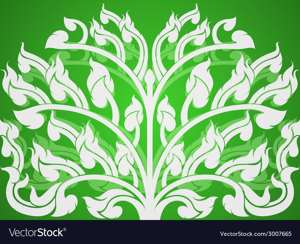 Art pattern on a green background