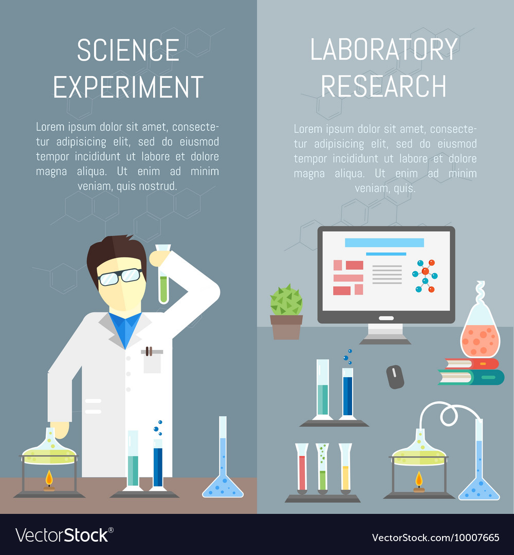 chemistry infographics banners royalty free vector image