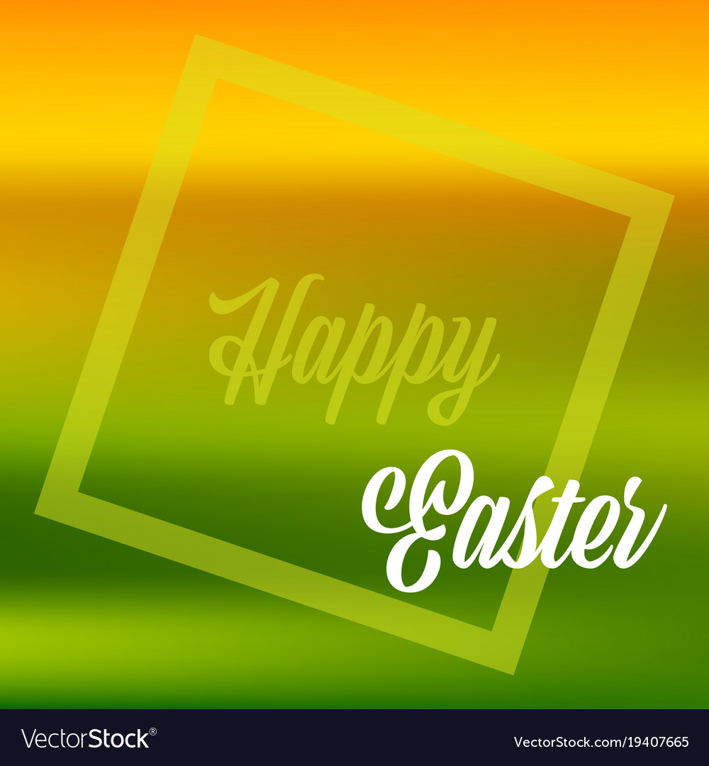Happy easter quote banner or greeting card in