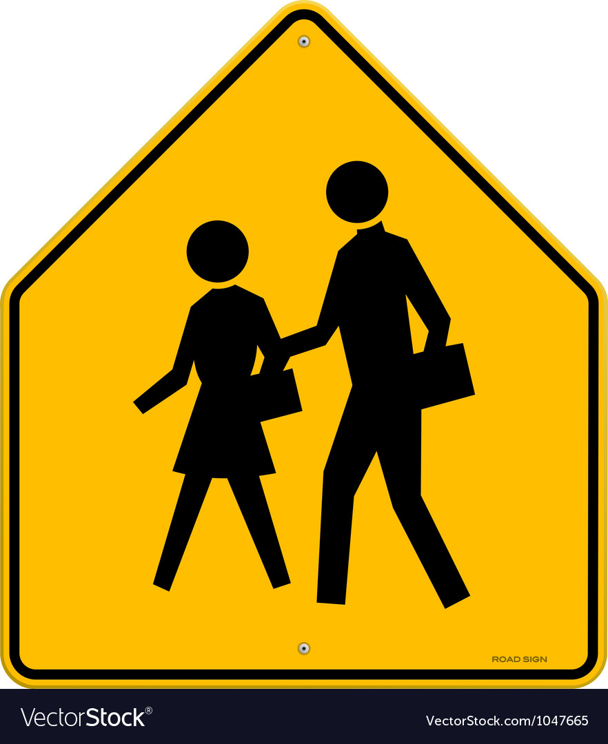 School Warning Sign