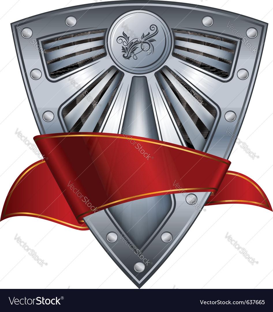 Shield with ribbon vector image
