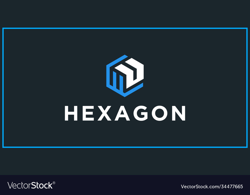 Wu hexagon logo design inspiration