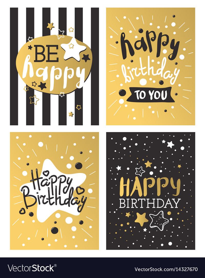 Beautiful birthday invitation card design gold