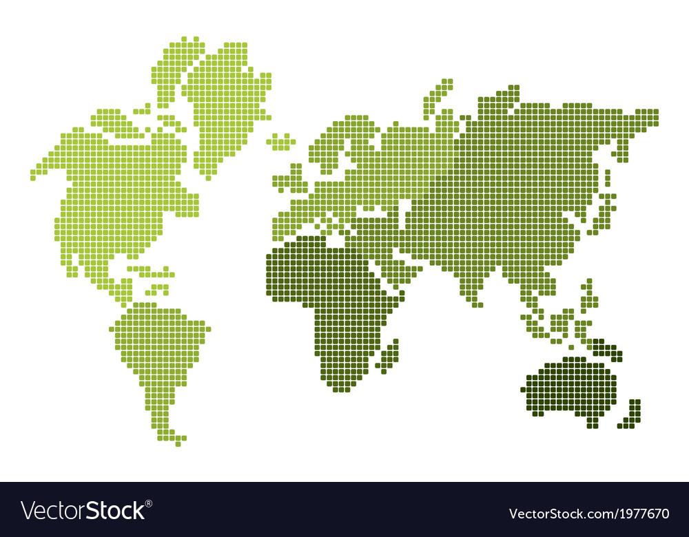 Mapa Sveta Pixel2 Royalty Free Vector Image Vectorstock