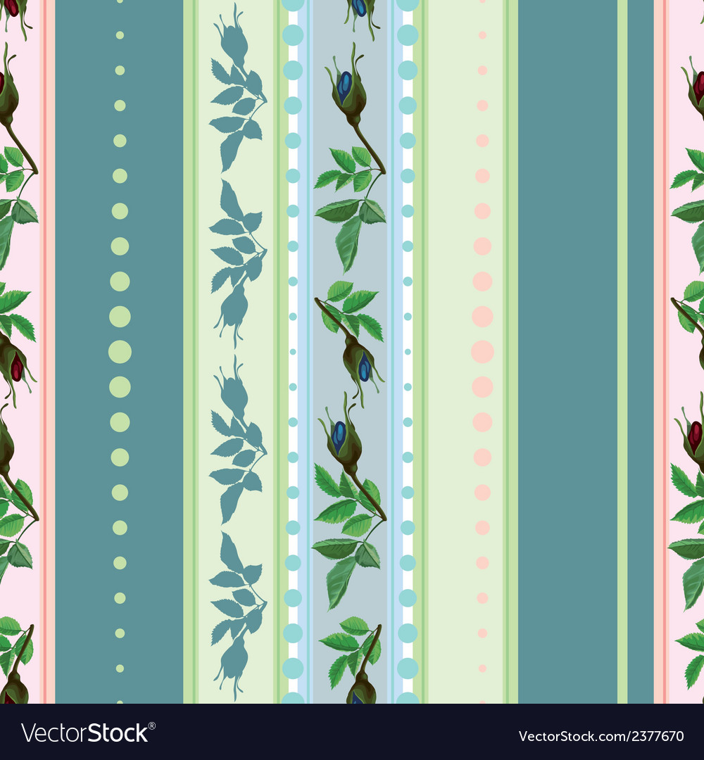 Seamless pattern of red and blue roses