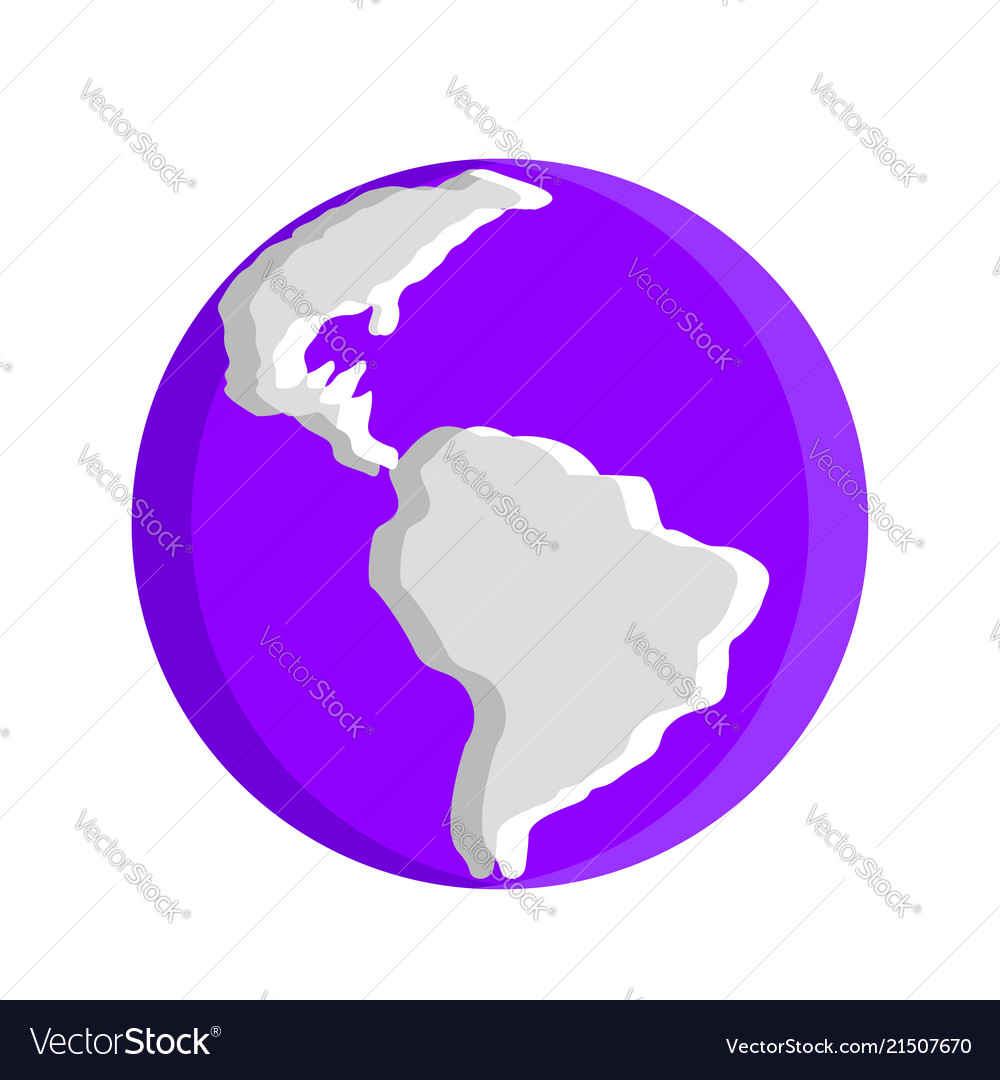 Violet planet earth icon
