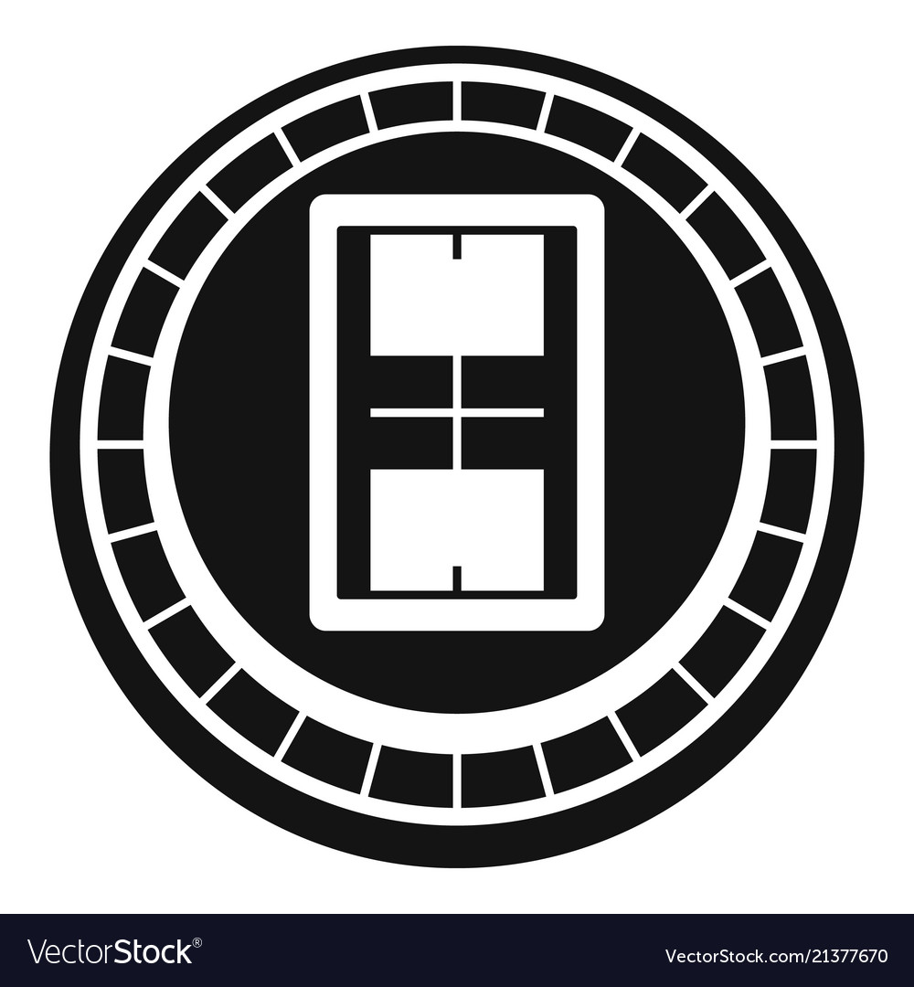 Volleyball arena icon simple style