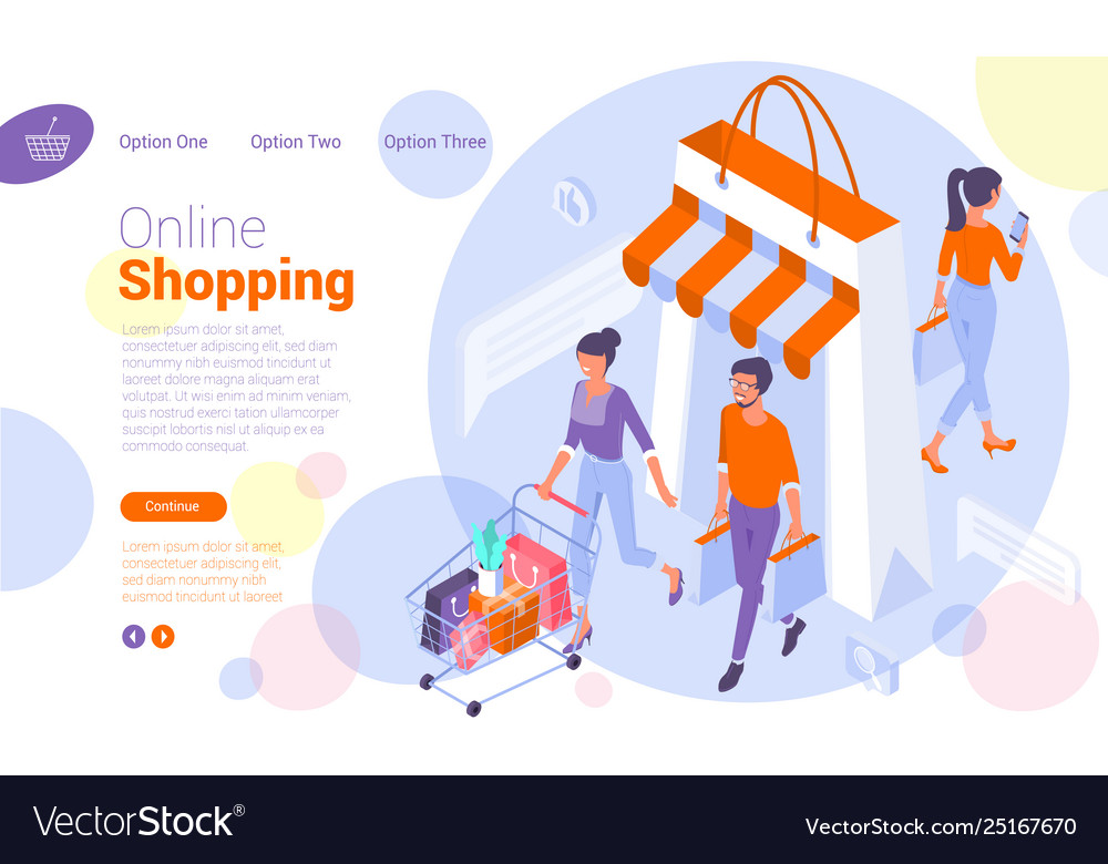 Web page template for online shopping