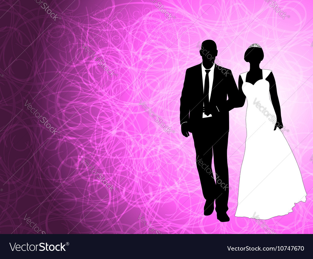 Wedding couple on the abstract background