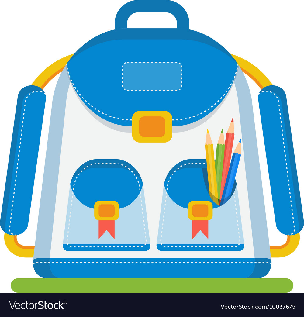Color school bag