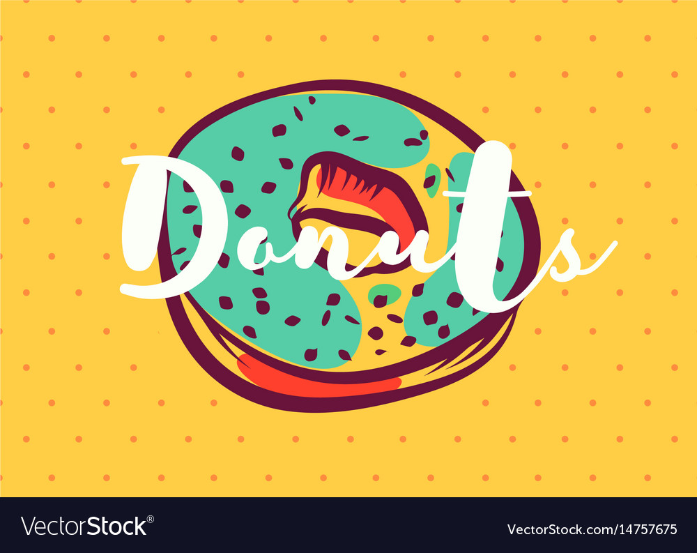 Donut poster with cool design