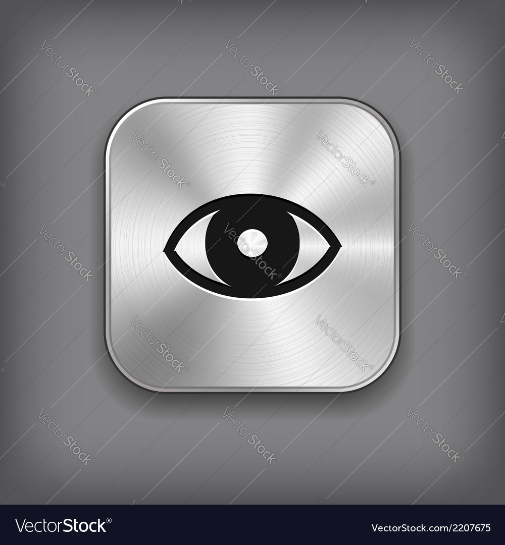 Eye icon - metal app button
