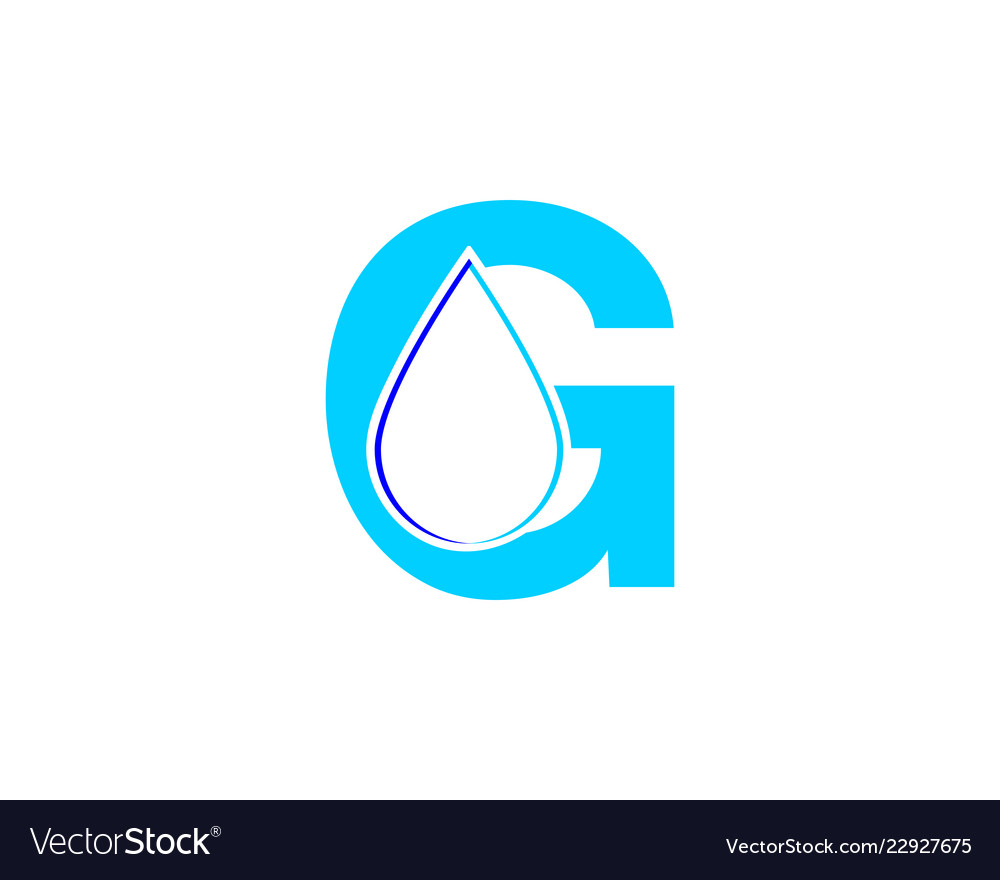 letter g water drop logo icon design template vector image