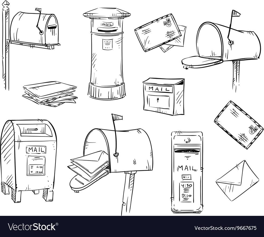 почтовый ящик рисунок красками предприятие официально