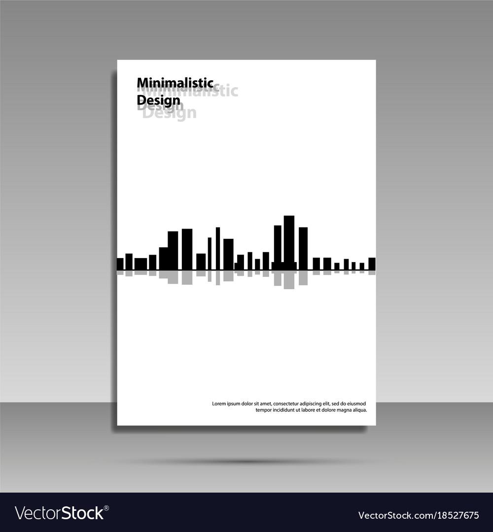 Minimalist design black and white brochure