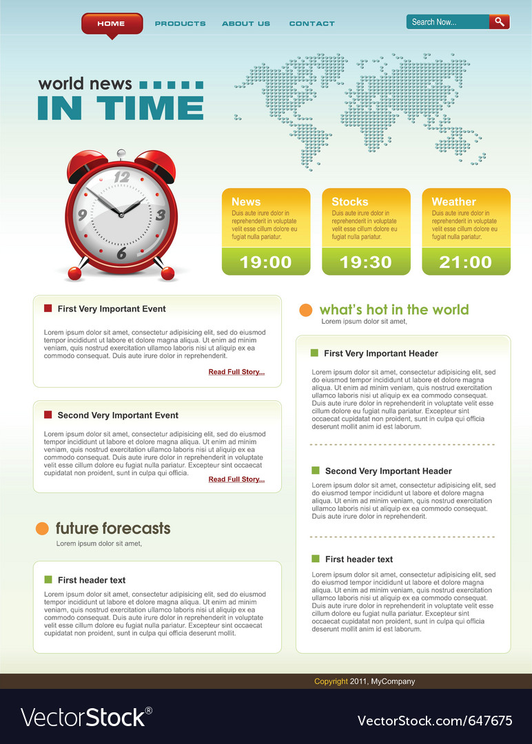 Web page infographic template