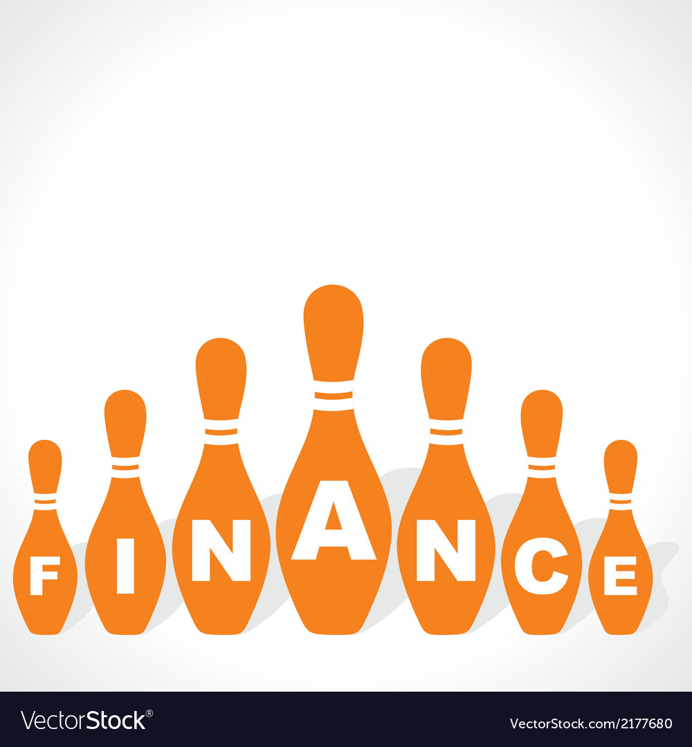 Bowling pins make finance word