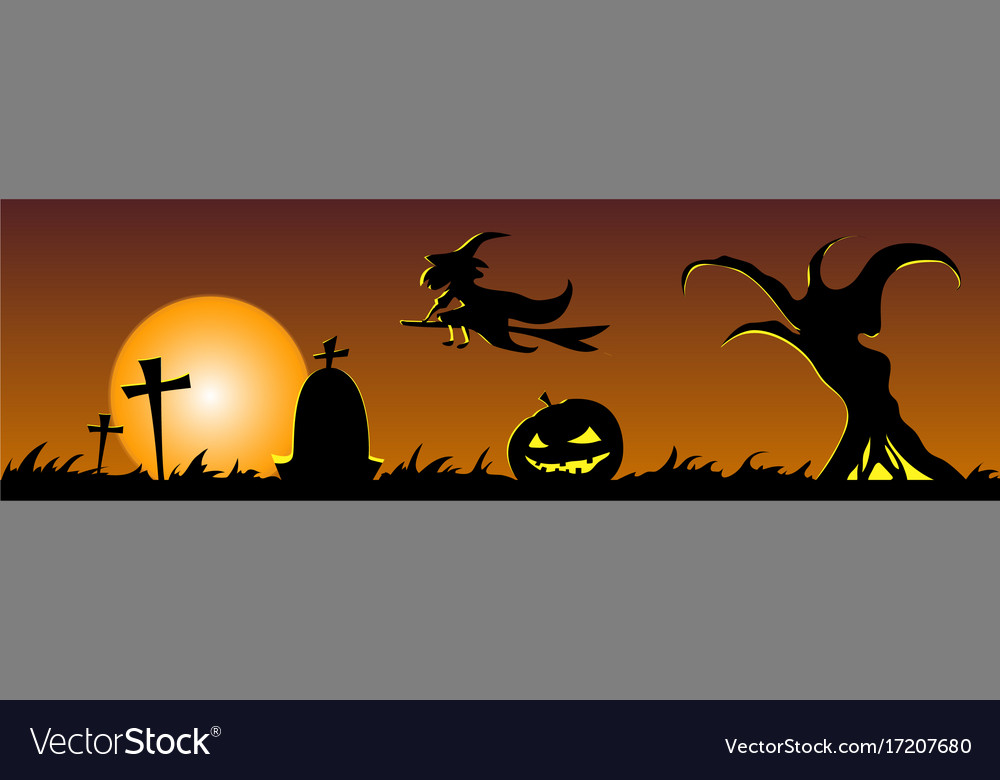 Happy halloween banner design