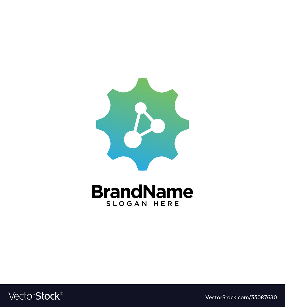 Mechanical technology logo design inspiration