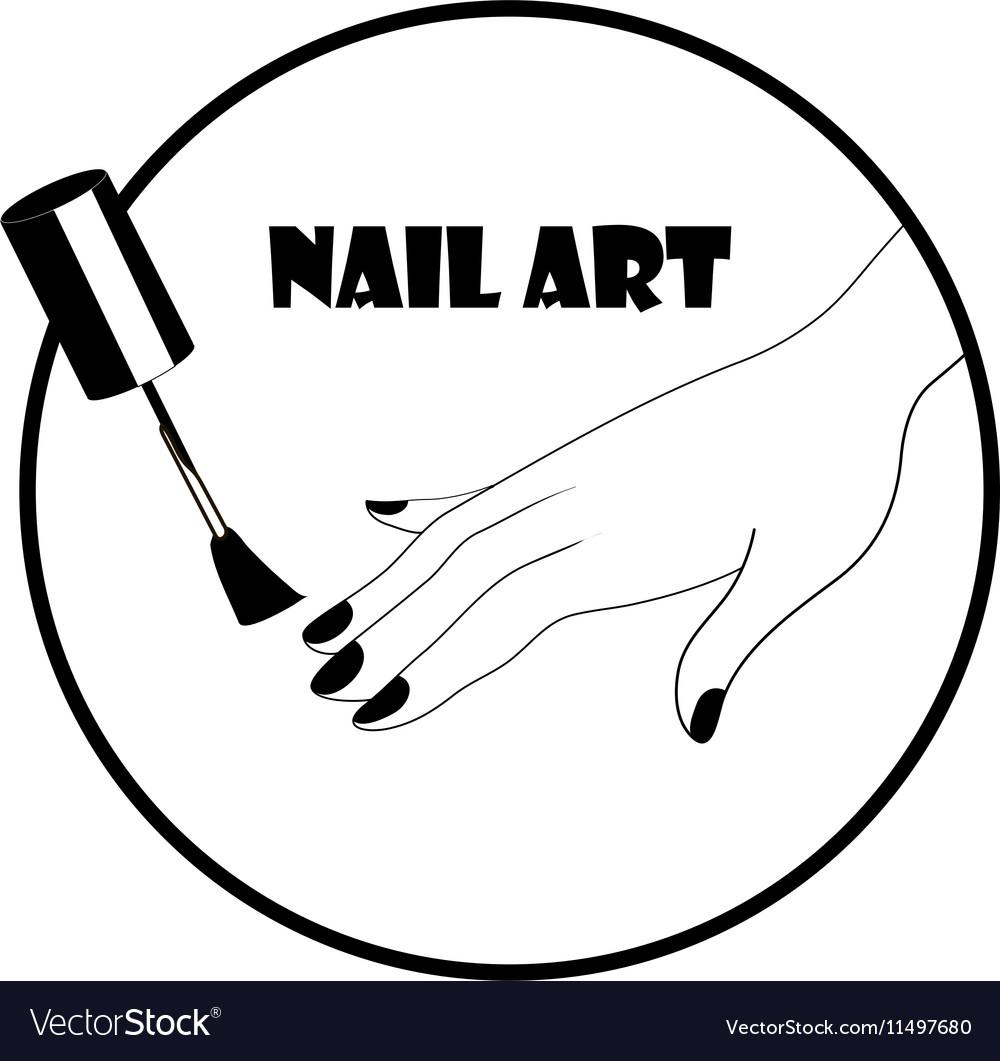 Nail art logo vector image