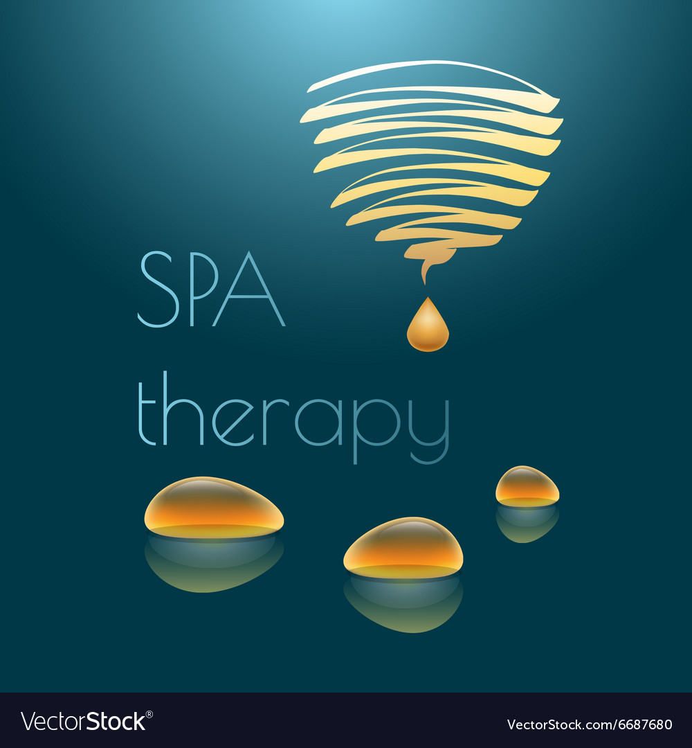 Spa therapy with yellow drops