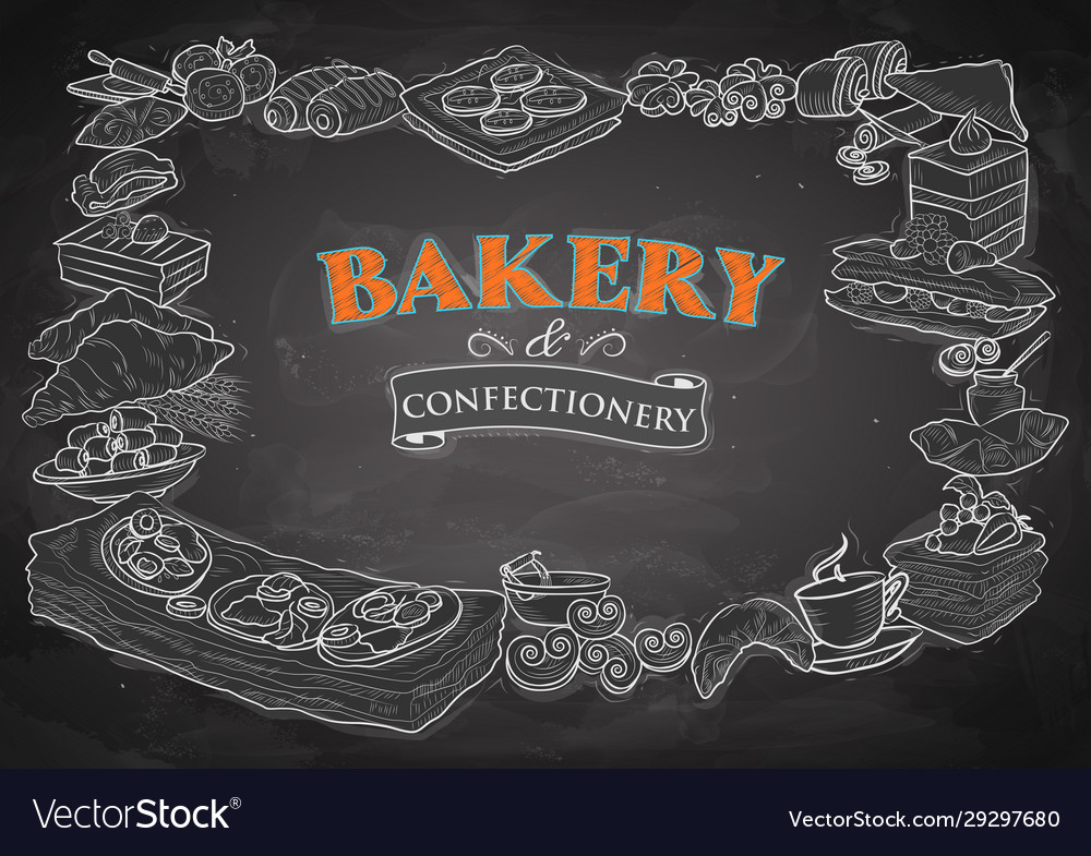 Template different types bakery item