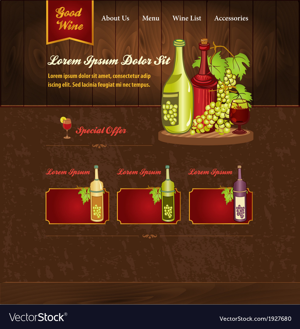 Template for wine website