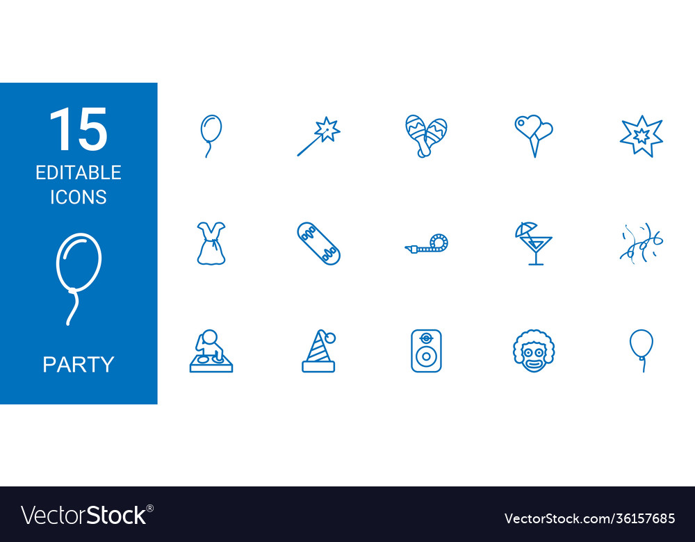 15 party icons