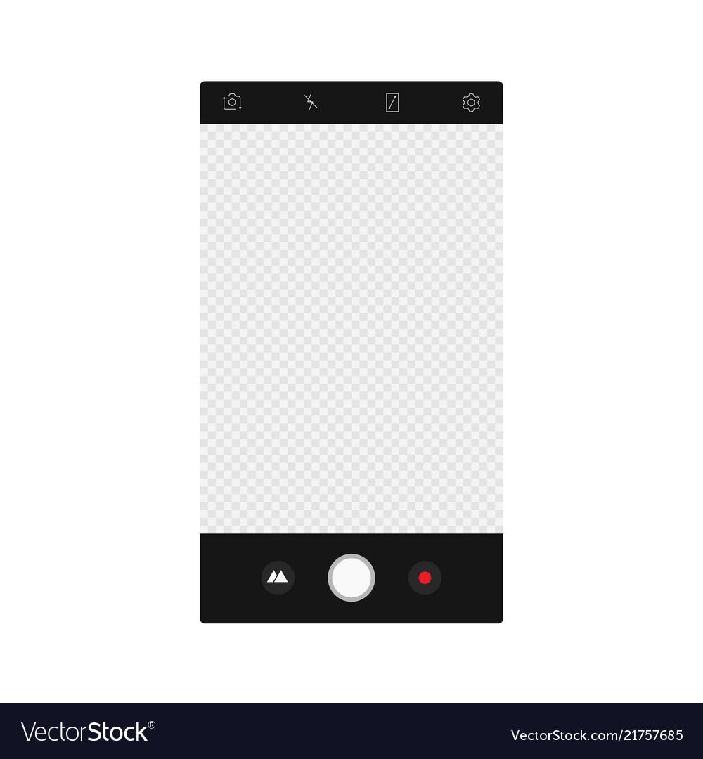 Camera app screen interface mockup photo
