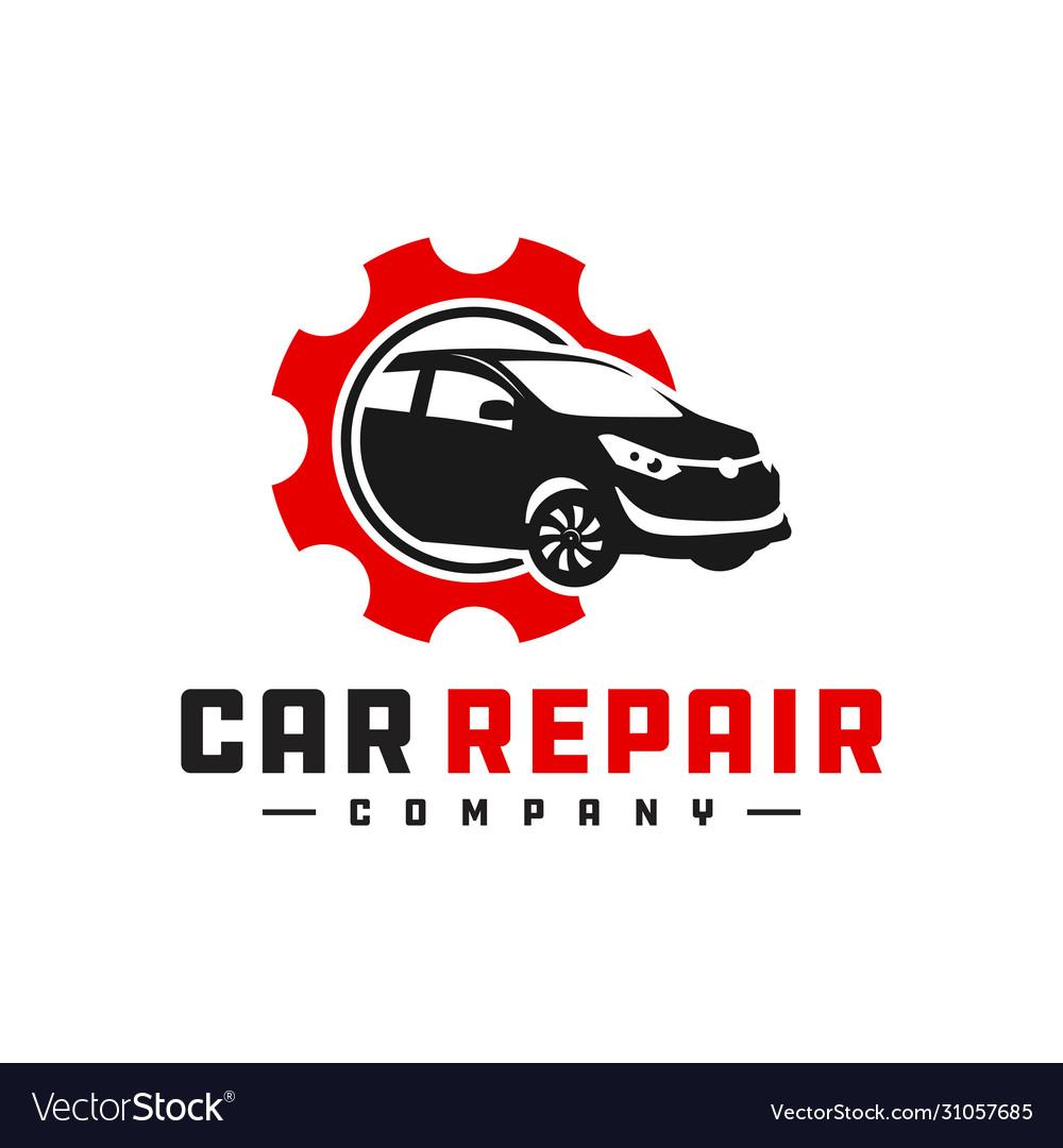 Car Repair Shop Logo Royalty Free Vector Image