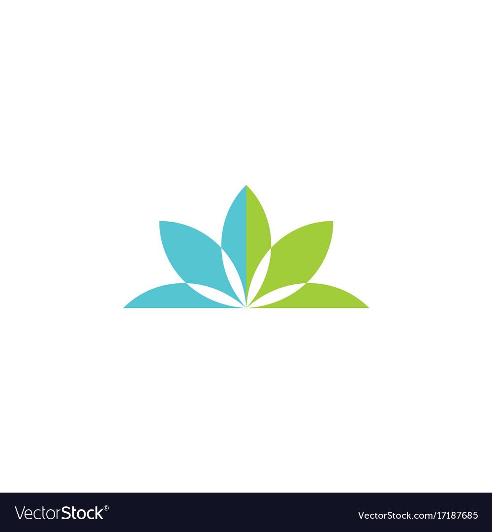 Green lotus flower logo