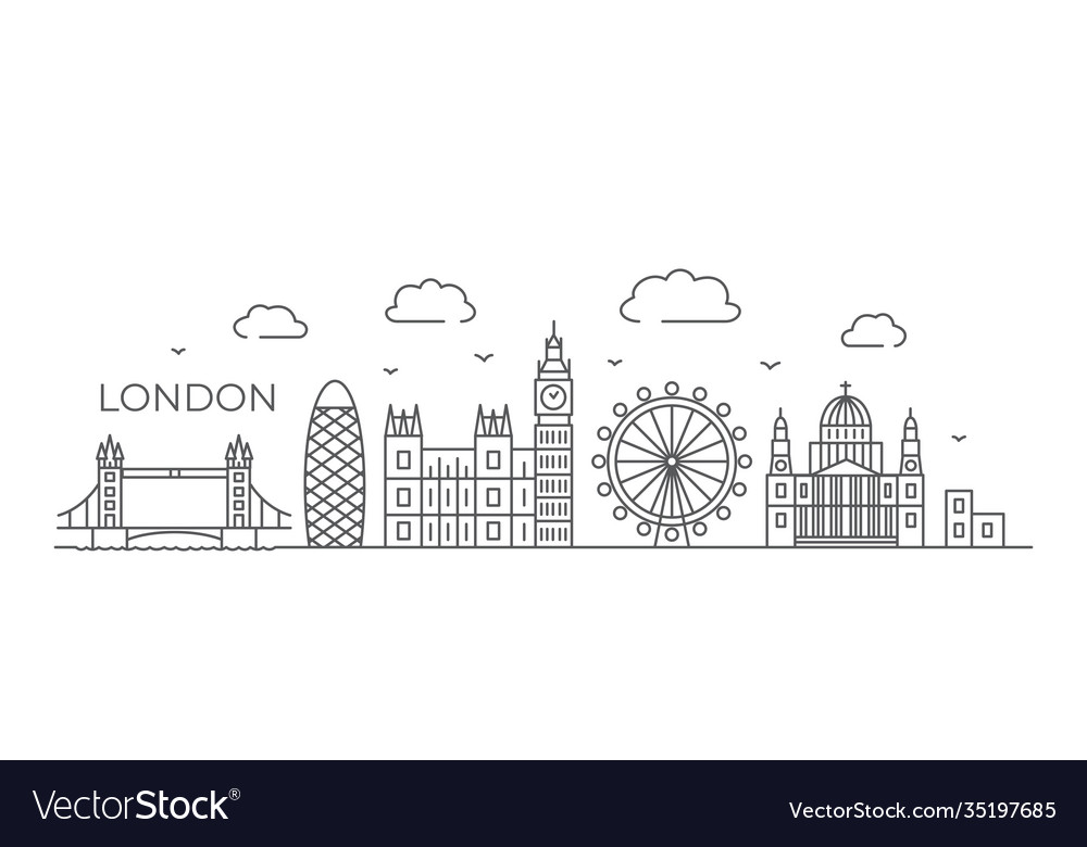 London line drawing london in line vector