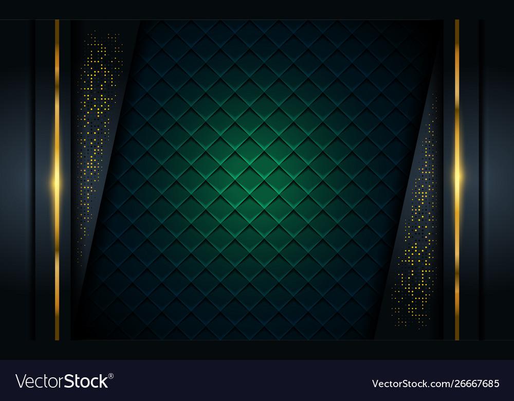 Luxurious dark background with golden line