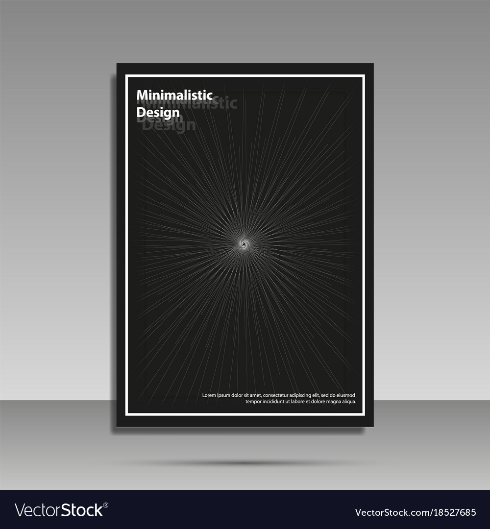 Minimalist design black and white brochure