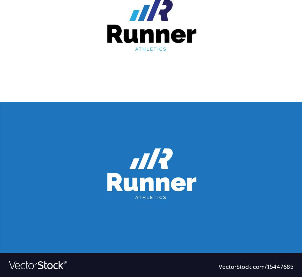 Minimalistic r letter sports logo