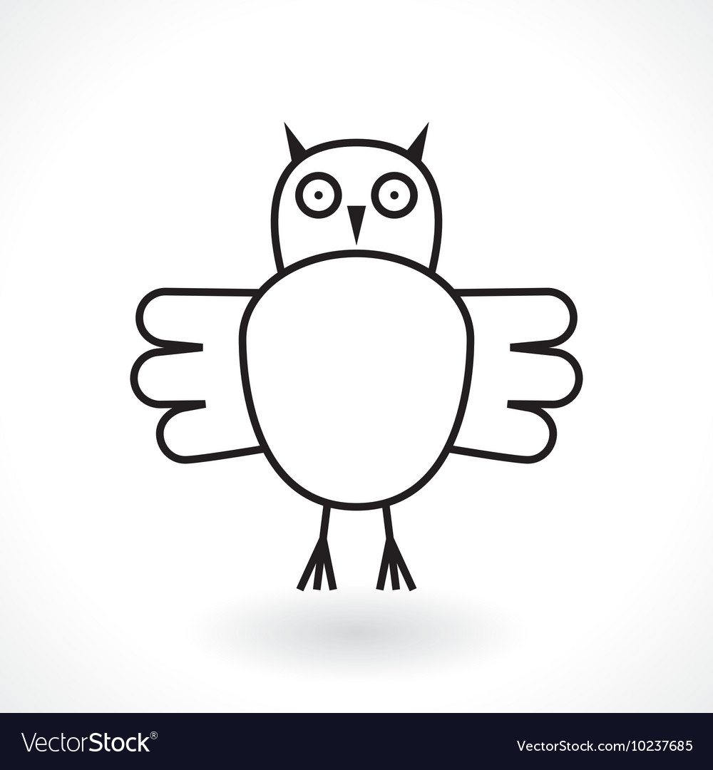 Owl abstract symbol