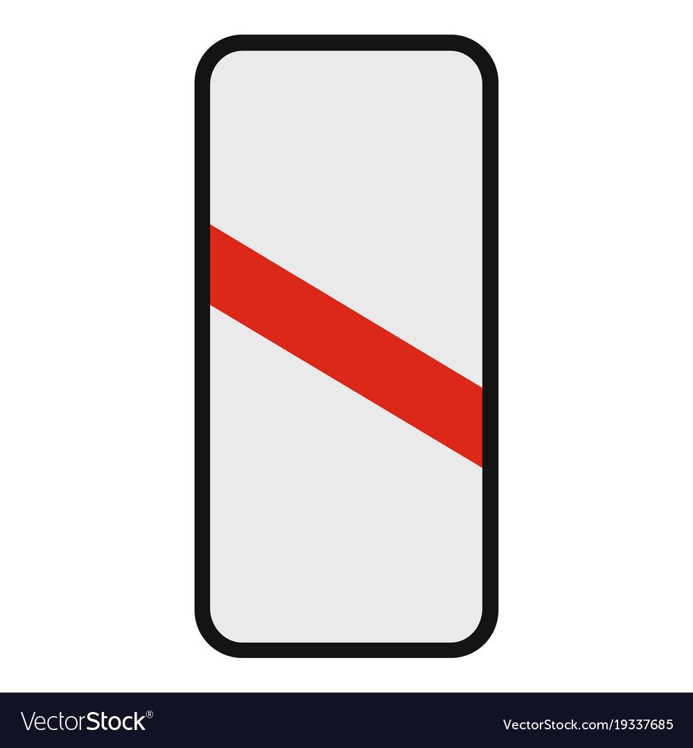 Railway crossing icon flat style