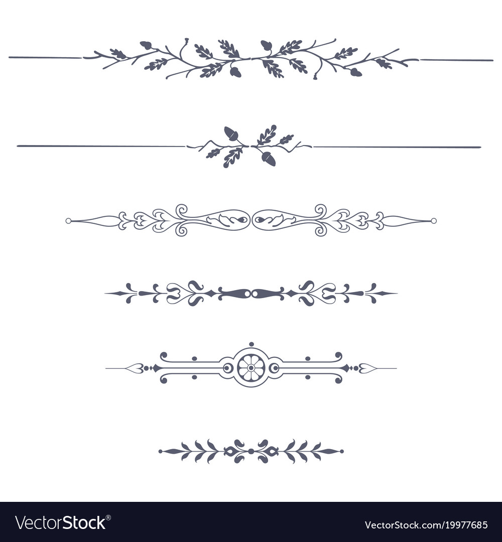 set of decorative text dividers royalty free vector image