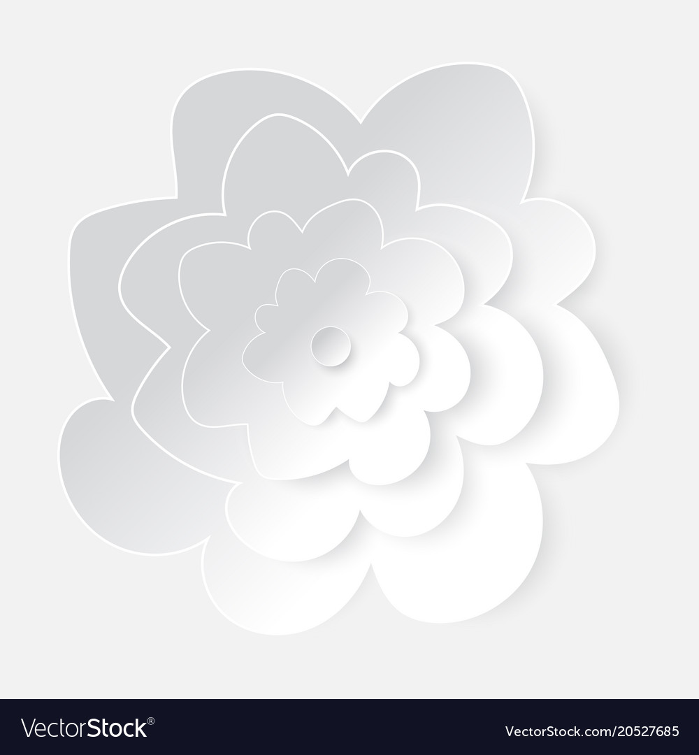 White paper cutting flower art royalty free vector image white paper cutting flower art vector image mightylinksfo