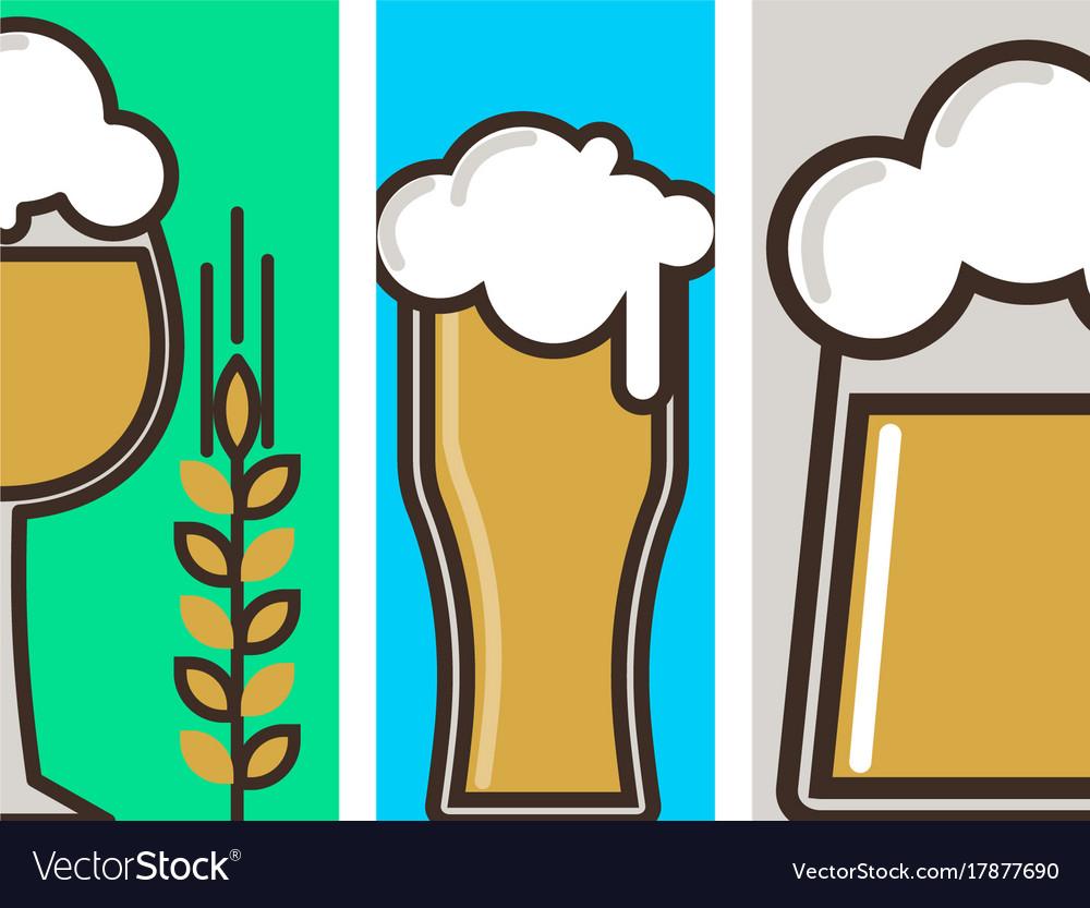 Beer glass banner celebration refreshment