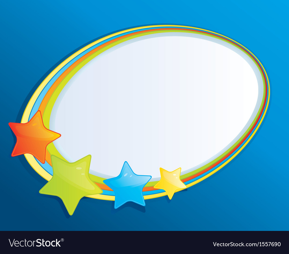 bubble speech with stars royalty free vector image