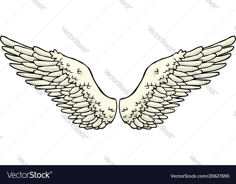 Cartoon doodle wings