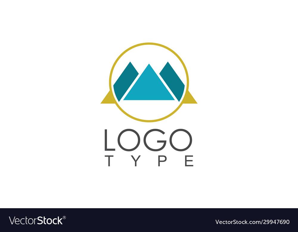 Circle letter m logo