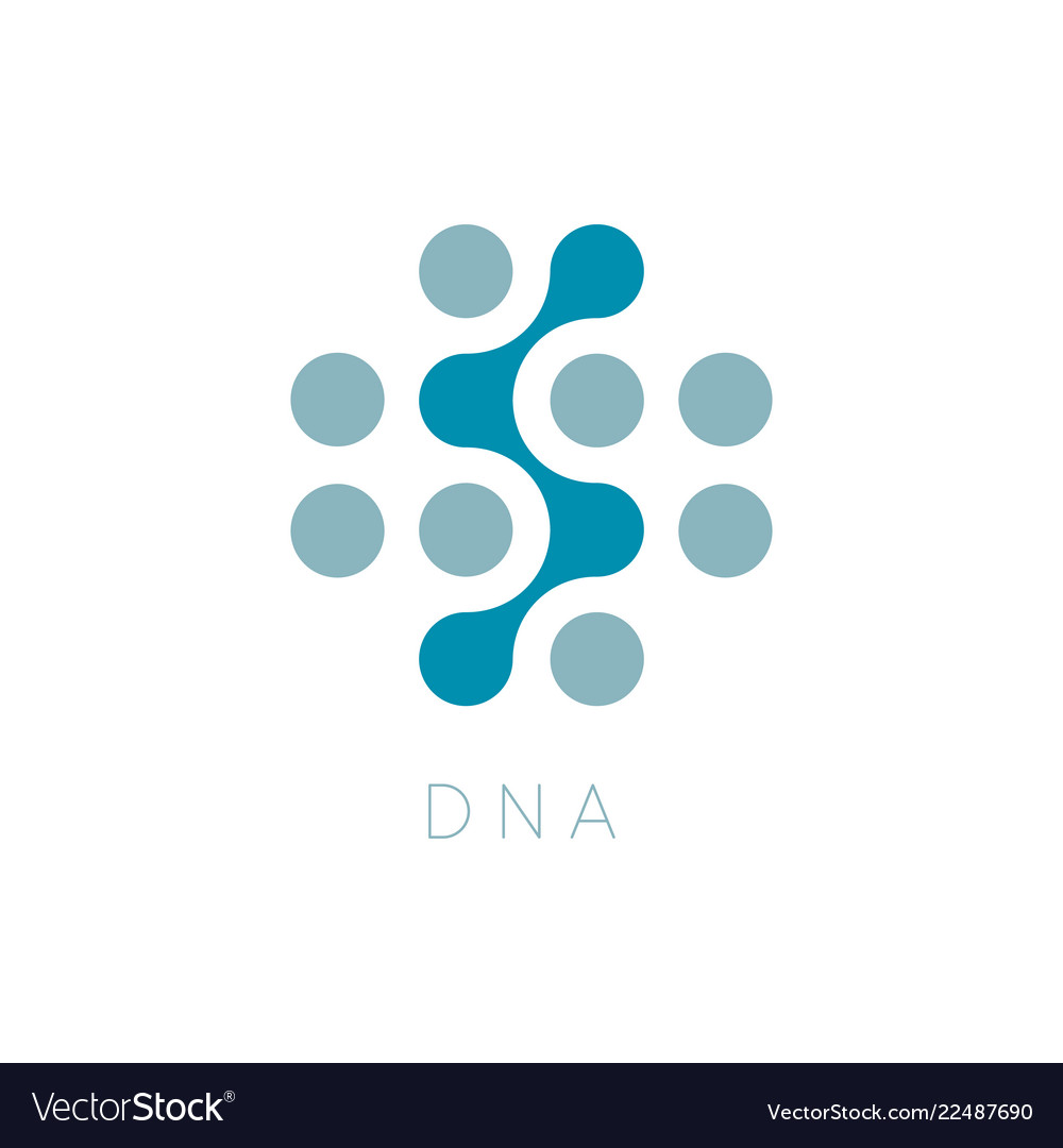 Circles icon dna logo template science