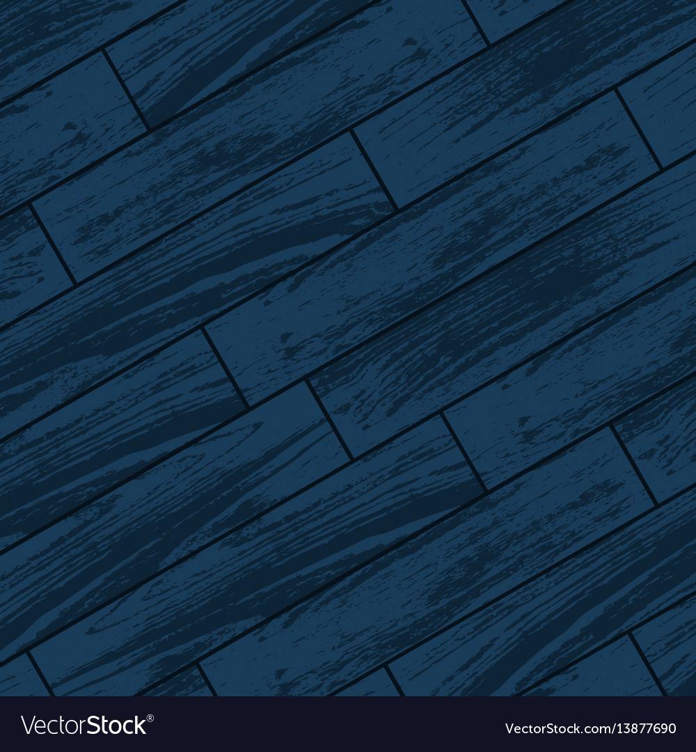 Dark blue wooden parquet