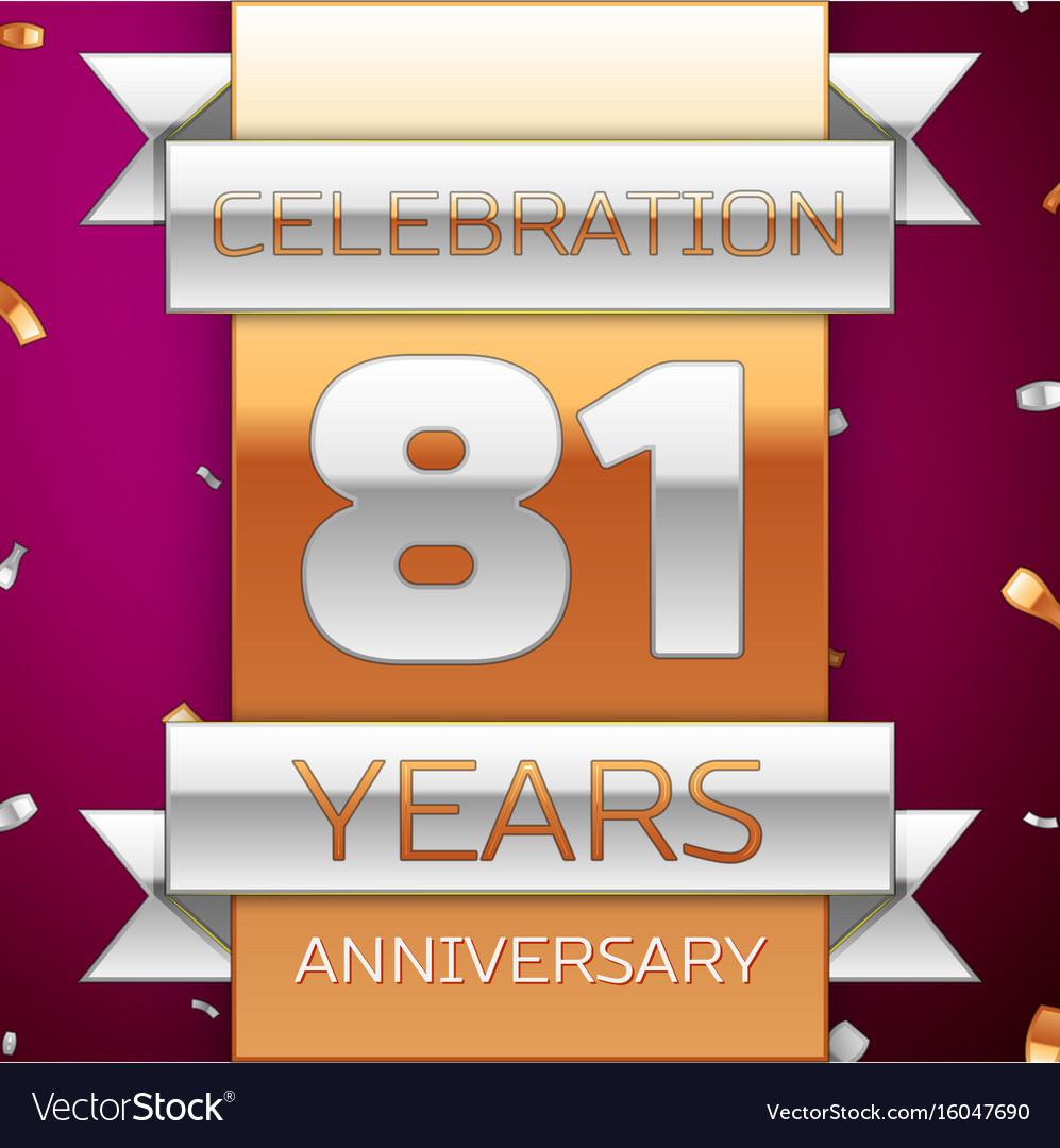 Eighty one years anniversary celebration design