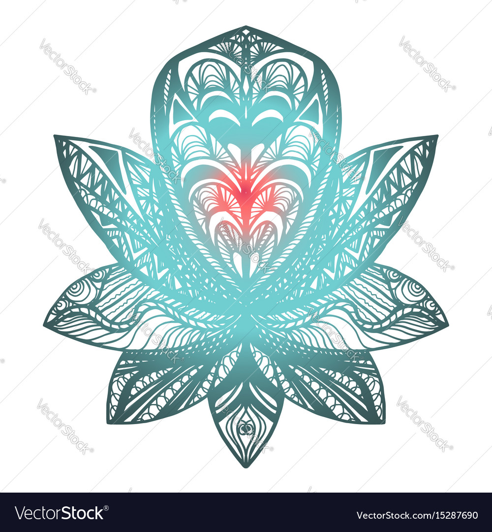 Flower lotus tattoo royalty free vector image vectorstock flower lotus tattoo vector image mightylinksfo