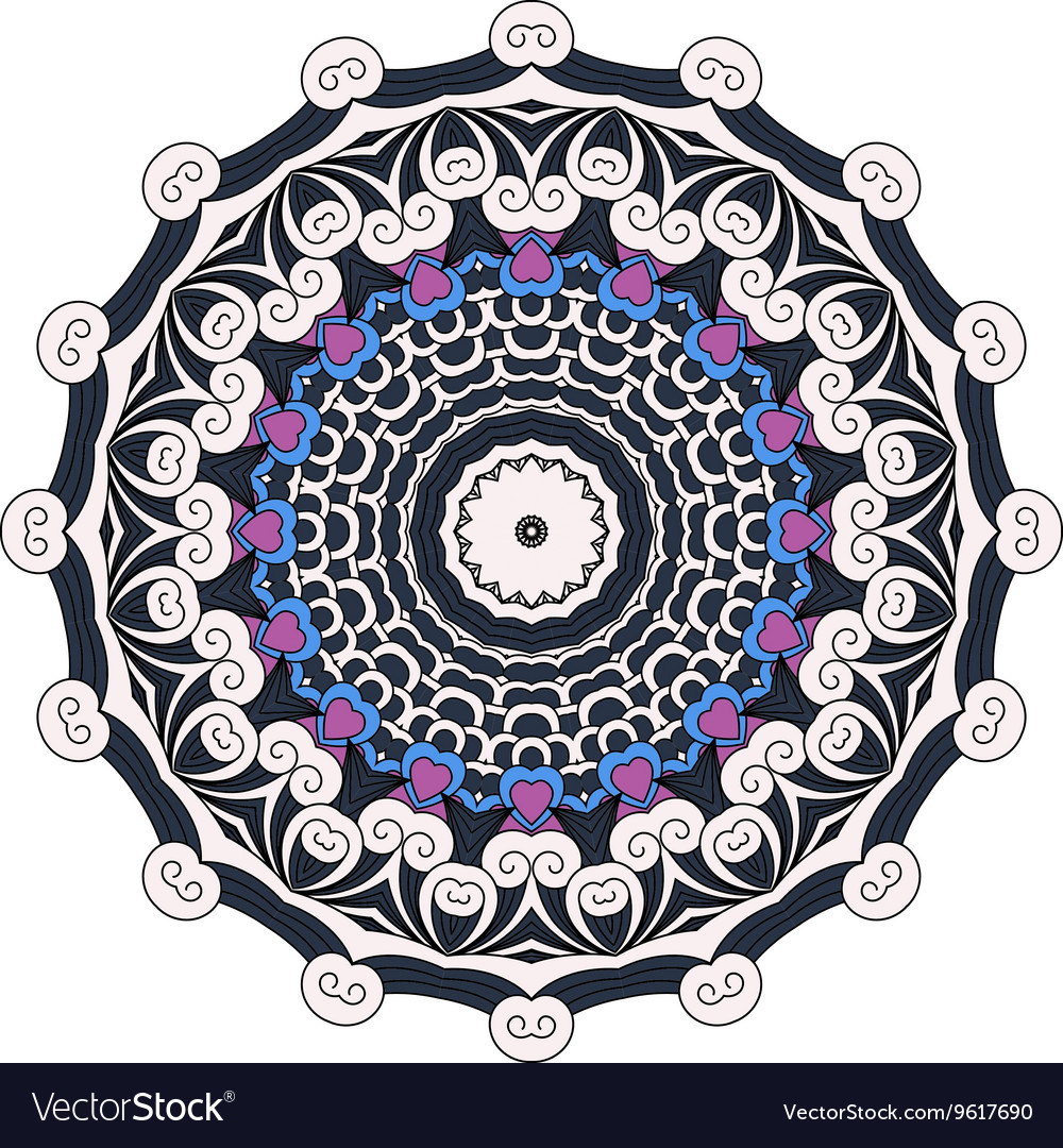 Lovely black blue and purple colored design vector image