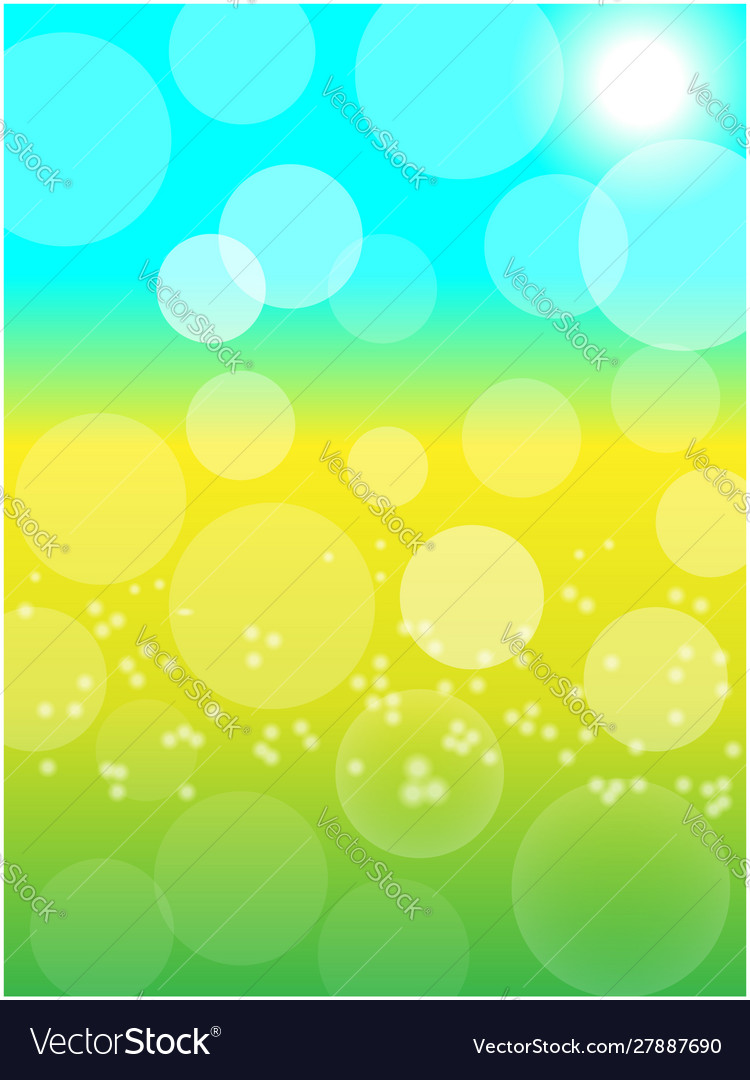Summer spring sunny bokeh abstract background