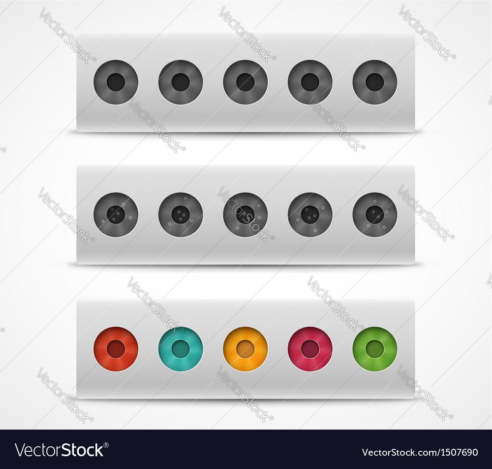 Target biathlon vector image